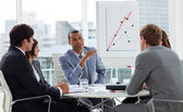 Positive business group having a meeting — Stock Photo