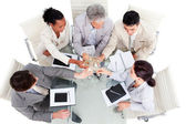 Prosperous business team celebrating a success — Stock Photo