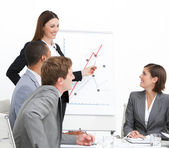 Confident woman doing a presentation — Stock Photo