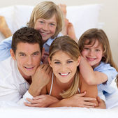 Happy family having fun together — Stock Photo