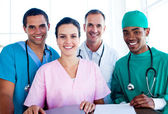 Portrait of a successful medical team at work — Stockfoto
