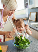 Bright mother and child cooking — Stock Photo