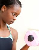 žena, která dělá fitness — Stock fotografie