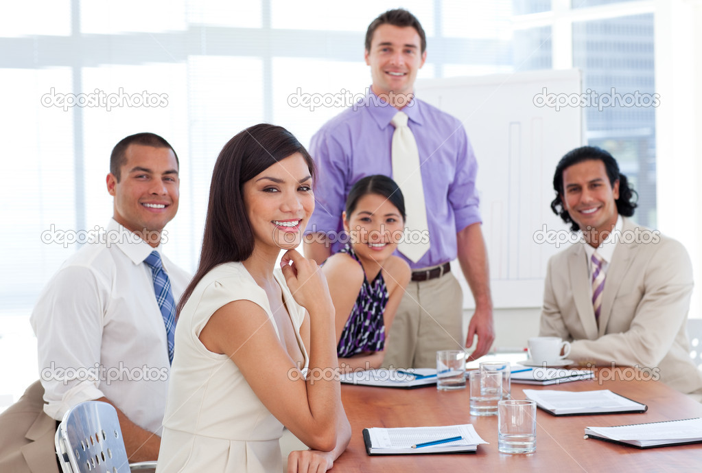 International business associates in a meeting. Business concept. — Stock Photo #10825309