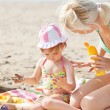 Adorable little girl at the beach — Stock Photo