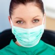 Portrait of a confident surgeon in her office — Stock Photo