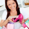 Delighted womwith shopping bags — Stock Photo #10831291