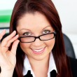 Assertive businesswomwearing glasses — Stock Photo #10831807