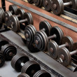 Collection of barbells — Stock Photo #10834346