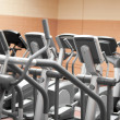 Close-up of treadmills in a fitness centre — Stock Photo #10838082