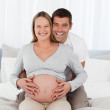 Portrait of a lovely couple of future parents — Stock Photo