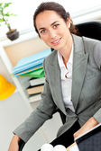 Self-assured female architect looking at the camera — Stock Photo