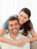 Portrait of a lovely couple — Stock Photo