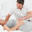 Pregnant woman with her husband — Stock Photo