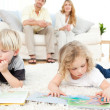 Stock Photo: Childrens reading books
