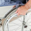 Man in his wheelchair — Stock Photo