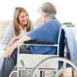 Seniors friends talking together — Stock Photo #10843513