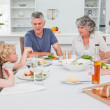 Stock Photo: Pretty family at the table together