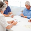 Retired playing cards together — Stock Photo