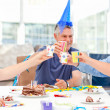 Mature friends on birthday — Stock Photo #10844195