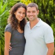 Happy couple hugging in the garden — Stock Photo #10846405