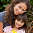 Portrait of a joyful mother with her daughter — Stock Photo #10846484