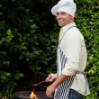 Man having a barbecue in the garden — Stock Photo #10846514