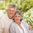 Retired couple looking at the camera — Stock Photo #10846635