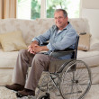 Senior man in his wheelchair — Stock Photo