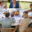 Family eating in the garden — Stock Photo #10846976