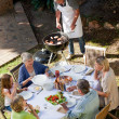 Family eating in the garden — Stock Photo #10846979