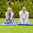 Senior couple doing their streches — Stock Photo #10847187