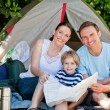 Royalty-Free Stock Photo: Family camping in the garden