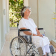 Stock Photo: Womin her wheelchair