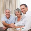 Stock Photo: Seniors with assurance mlooking at camera