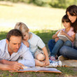 Stock Photo: Family in the park together