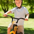 Boy with his bike — Stock Photo