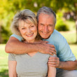 Portrait of a lovely senior couple — Stock Photo