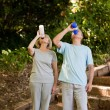 Stock Photo: Couple drinking water