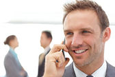 Handsome businessman on the phone — Stock Photo