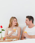 Cute pairs having breakfast — Stock Photo