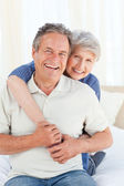 Senior couple looking at the camera — Stock Photo