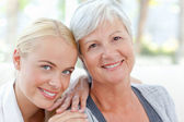 Lovely woman with her mother — Stock Photo