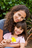 Portrait of a joyful mother with her daughter — Stock Photo