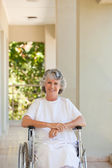 Woman in her wheelchair — Stock Photo