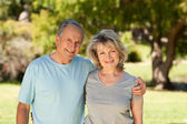 Portrait of a lovely senior couple — Stok fotoğraf