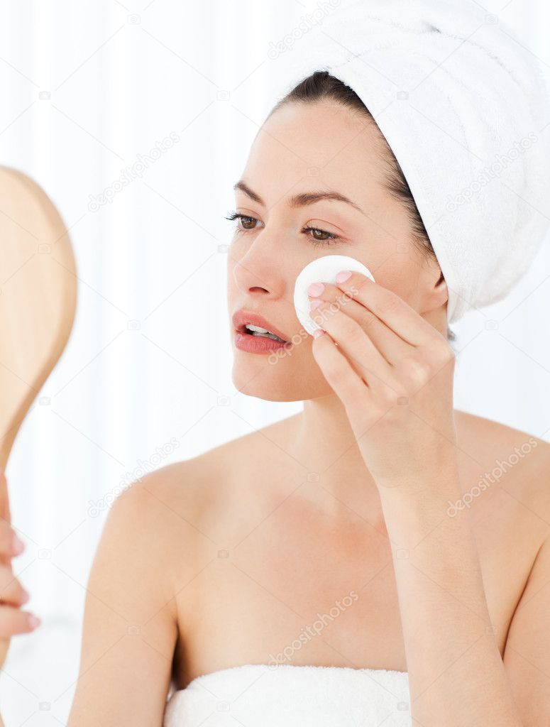 Attractive woman putting on Make up — Stock Photo #10842684