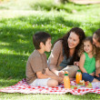 Family picnicking together — Stock Photo #10850991