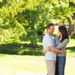 Pretty couple in the park — Stock Photo