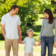 Stock Photo: Joyful family in park